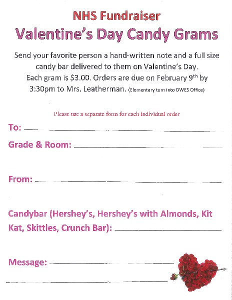 doniphan west usd 111 - valentine's day candy grams, Ideas